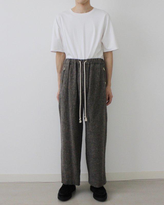 Wool fulling herringbone pants