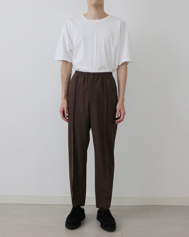 High count poplin pants