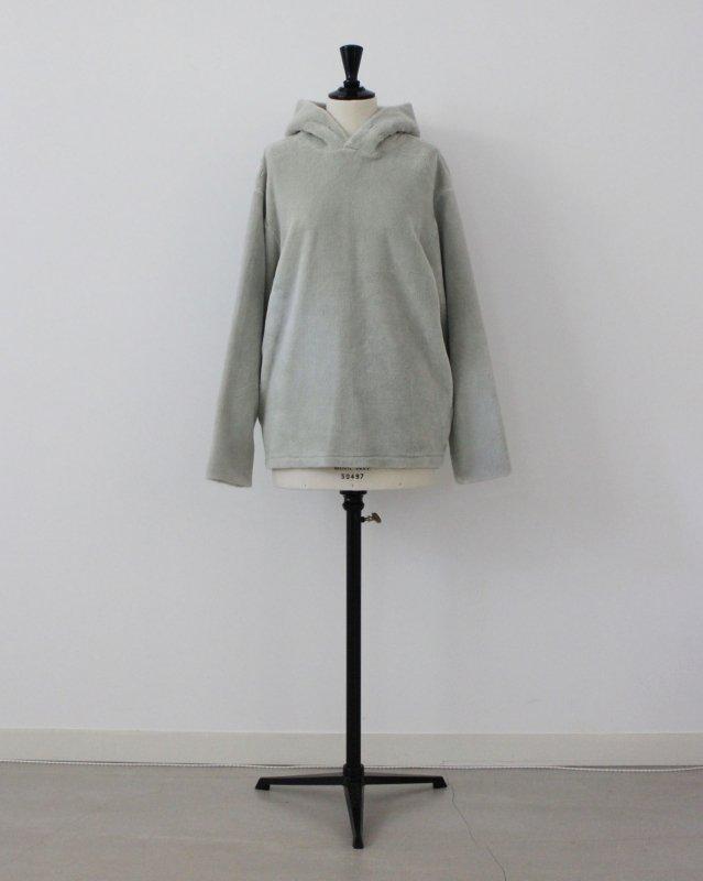 Organic boa pullover hoodie