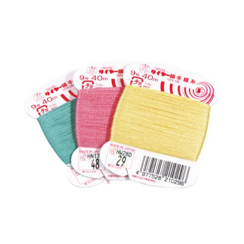 タイヤー絹手縫い糸9号 40m