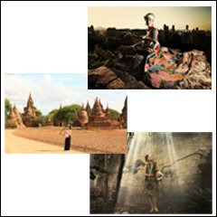 Post card 3枚組セット(Paris to Myanmar)