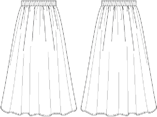 TUCKED AND GATHERED MAXI-SKIRT