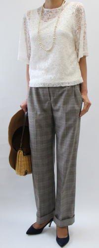 裾Wワイドパンツ【607】