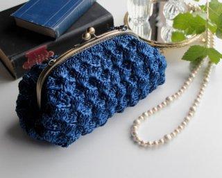 キット手編み製図 ラウンドがま口バッグ