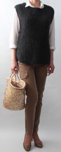 手編み製図 ニットベスト