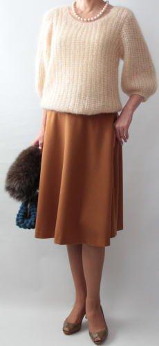 手編み製図 パフスリーブセーター