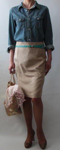 サイド切り替えタイトスカート