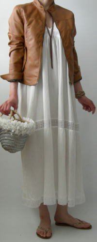 マキシ丈サマードレス
