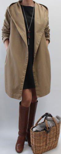 フード付きローブコート