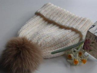 手編み製図 ローゲージニット帽