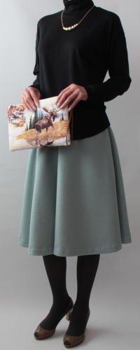 AP膝丈フレアースカート-2
