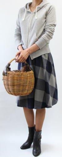 MPウエスト平ゴムギャザーフレアースカート-2