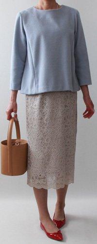 ロングシンプルタイトスカート