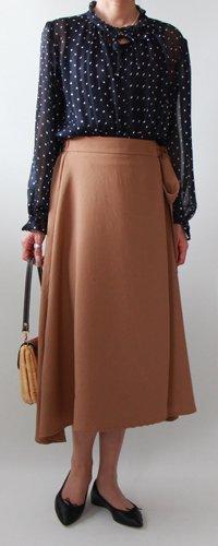 キット ミディ丈ラップスカート2(ペチコート付き)