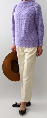 手編み製図  ボリュームネックセーター【N46】