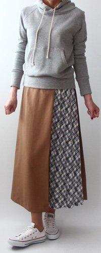切り替えラップ風スカート【791】