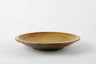 [小石原焼(福岡)]<br>7寸の平皿 とびかんな