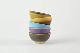 [台湾の茶器]<br>湯のみ5色のセット