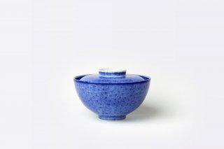 【アウトレット品】[江戸から近代の器]<br>蓋つき椀(鮮やかな藍)
