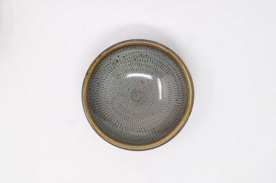 [小石原焼(福岡)]<br>海鼠釉 飛び鉋4寸小鉢(平)