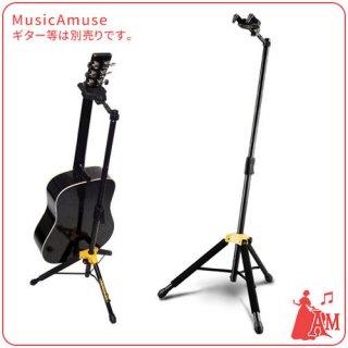ギター&ベース ホルダー部分も折りたためるタイプ SINGLE STAND GS415B ミュージックカラーショップ(旧ミュージックアミューズ)