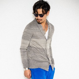 EX COTTON Shawl Cardigan GREY