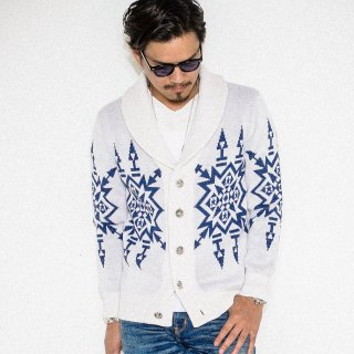 Native Shawl Cardigan WHITE