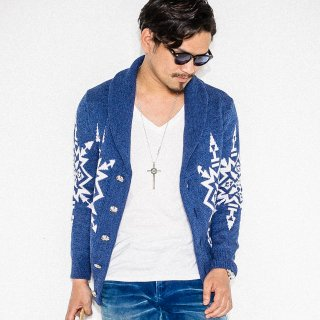 Native Shawl Cardigan INDIGO
