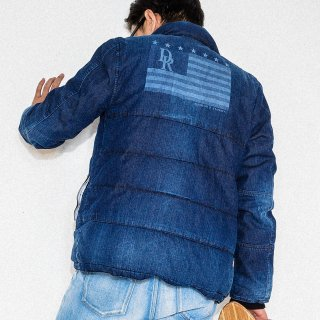 Andrew Denim Down Jacket IND Flag