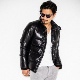 Andrew Leather Down Jacket BLACK