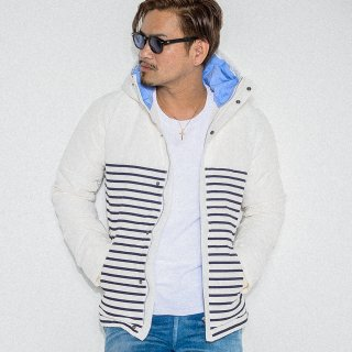 64border Down jacket WHITE