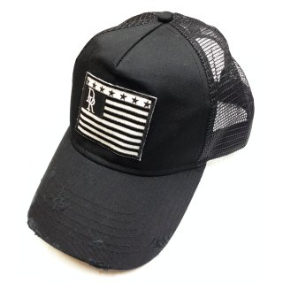 VINTEAGE DENIM RESOUND FLAG CAP BK A