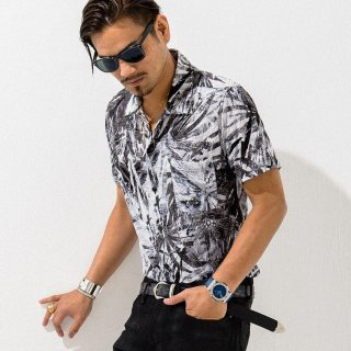 ALOHA CUT SHIRTS BLACK