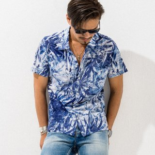 ALOHA CUT SHIRTS BLUE