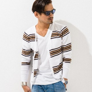 SVC CARDIGAN WH BROWN