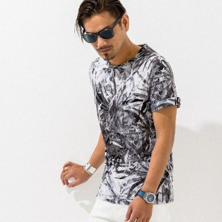 aloha ROLL UP TEE BLACK