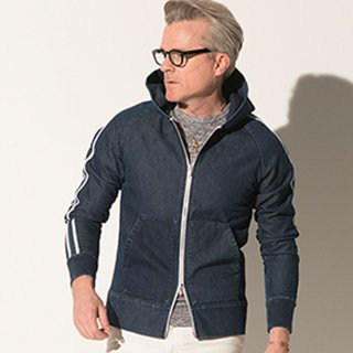 <img class='new_mark_img1' src='//img.shop-pro.jp/img/new/icons1.gif' style='border:none;display:inline;margin:0px;padding:0px;width:auto;' />heavy sweat denim Hoodie IND A
