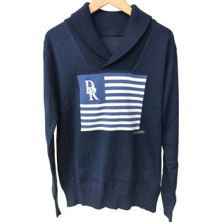 <img class='new_mark_img1' src='//img.shop-pro.jp/img/new/icons1.gif' style='border:none;display:inline;margin:0px;padding:0px;width:auto;' />FLAG shawl pullover knit NAVY