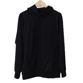 Tencel SWEAT P/O Hoodie BLACK