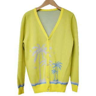 palmtree cardigan YELLOW