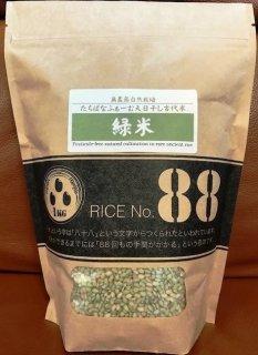 天日干し古代米 緑米1kg 無農薬自然栽培