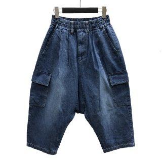 Denim Sarouel Cargo Pants