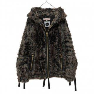 MaD×PROPA9ANDA Fur Zip Hoodie