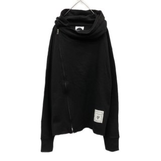 Over Asymmetry Zip Hoodie