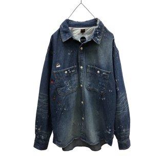 MOON AGE DEVILMENT×EGO TRIPPING Vintage Wash Denim Shirts