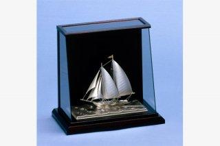 銀製 ヨット6号(スクーナー) スロープケース