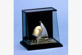 銀製 ヨット6号(フルセール) スロープケース
