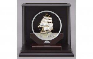 純銀 丸形帆船 7号 スロープケース