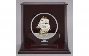 純銀 丸形帆船 8号 スロープケース
