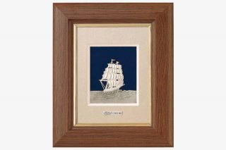 純銀卓上額  帆船  1号茶
